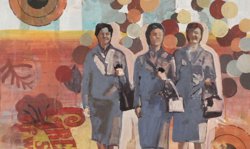 Power of art as shown by the strident powerful women from the 1950s. These women, Pan Am Stewardesses, are presented as the independent women of today.