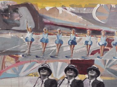 Waterskiing girls from Florida from the 1950s. Inspired by a vintage postcard, this image is about performing and being watched.