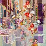flowers blooming in an empty street