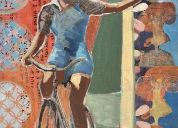 Bike riding girl celebrating life