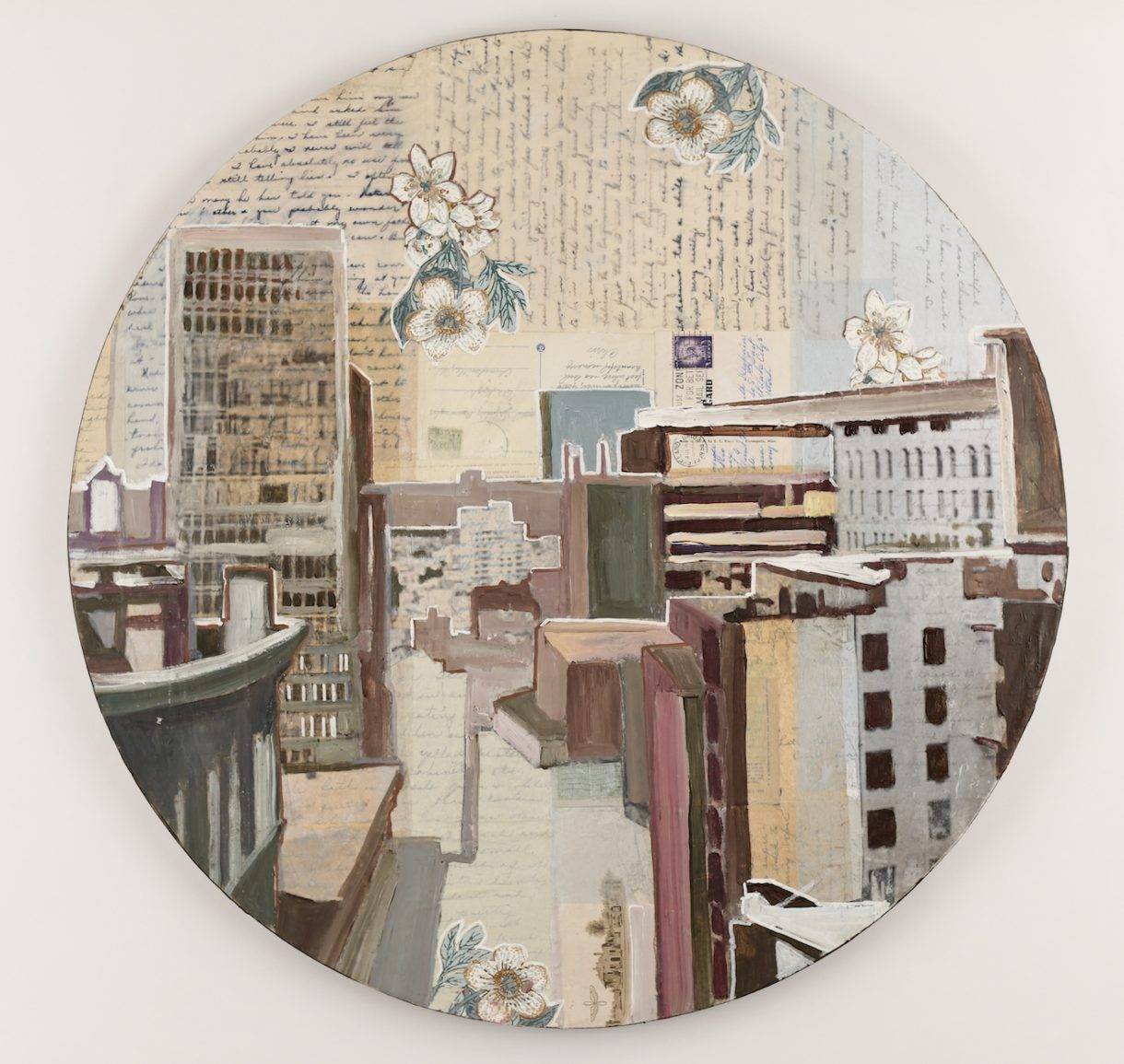 cityscape in the round from above