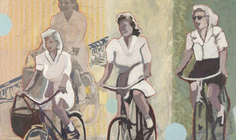 creative paralysis is combatted by girls riding their bikes.