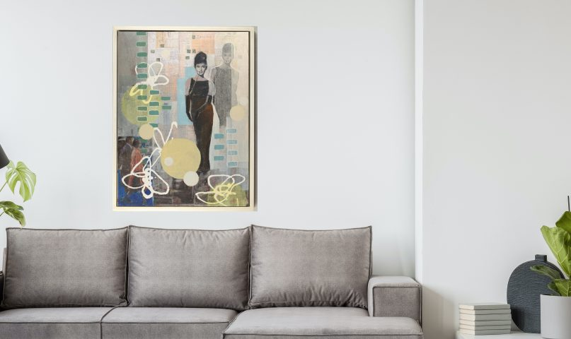 how to buy art that looks beautiful in a modern home.