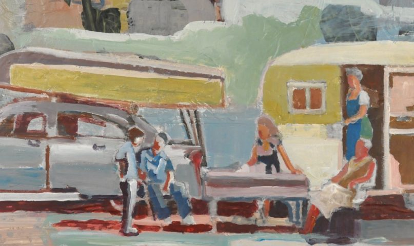 why art is important because it reminds you of escape. With a vintage camper, this pieces reminds you of escape.