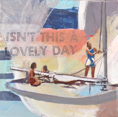 women sailing showing a piece of empowering women's art